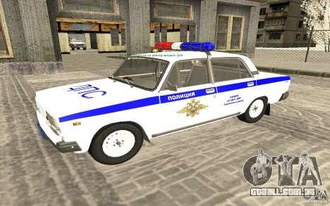 Carro de polícia Vaz 2107 DPS para GTA San Andreas