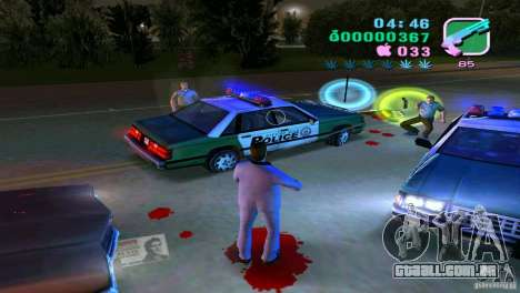O fluxo do sangue para GTA Vice City segunda tela