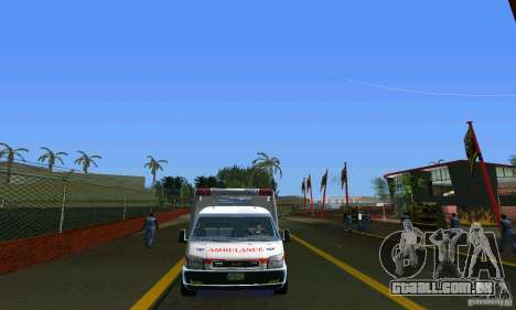 RTW Ambulance para GTA Vice City vista direita