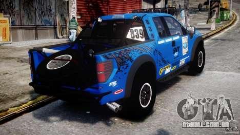 Ford F150 Racing Raptor XT 2011 para GTA 4 vista lateral