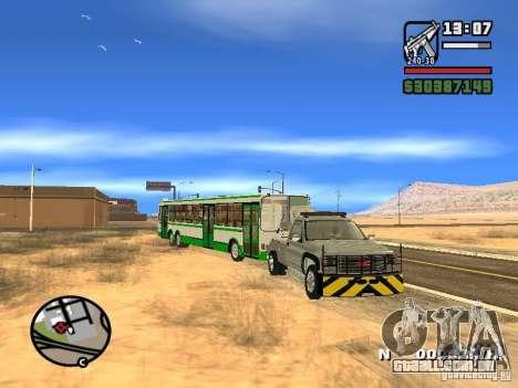 GMC Sierra Tow Truck para vista lateral GTA San Andreas