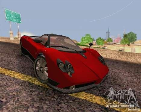 Pagani Zonda F v2 para GTA San Andreas vista interior