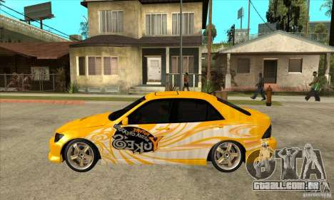 Lexus IS300 Tunable para GTA San Andreas esquerda vista