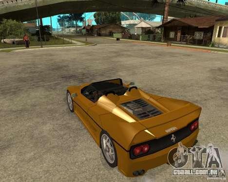 Ferrari F50 para GTA San Andreas esquerda vista