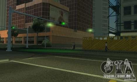 Lâmpadas de néon cor para GTA San Andreas sexta tela