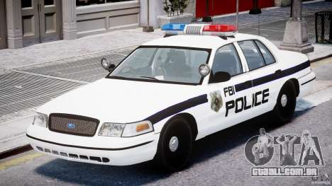 Ford Crown Victoria FBI Police 2003 para GTA 4 esquerda vista