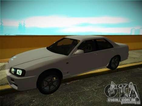Nissan Skyline ER34 para GTA San Andreas vista traseira