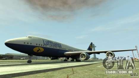 Lufthansa Airplanes para GTA 4 esquerda vista