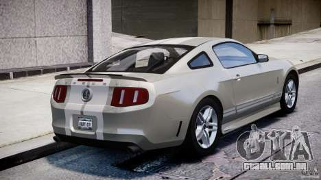 Ford Shelby GT500 2010 [Final] para GTA 4 vista lateral