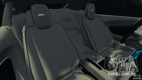 Chevrolet Camaro ZL1 2012 v1.0 Flames para GTA 4 vista lateral