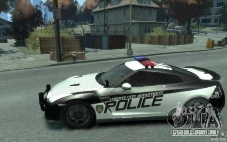 Nissan GT-R R35 Police para GTA 4 esquerda vista