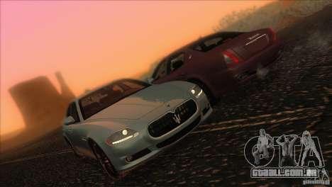 Maserati Quattroporte Sport GT V1.0 para GTA San Andreas vista inferior