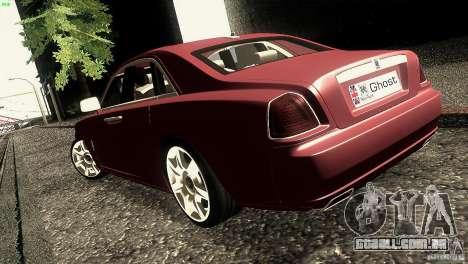 Rolls-Royce Ghost 2010 V1.0 para GTA San Andreas traseira esquerda vista