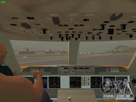 Sukhoi Superjet-100 para GTA San Andreas vista superior