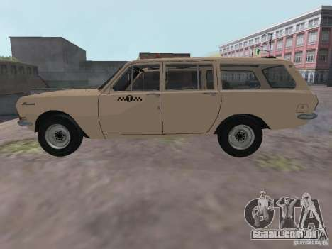 Táxi do Volga GAZ-24-02 para GTA San Andreas esquerda vista