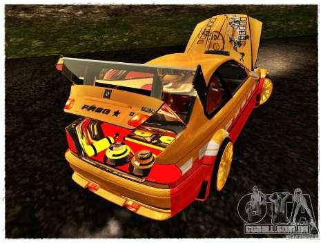 BMW M3 Calibri-Ace para GTA San Andreas vista traseira
