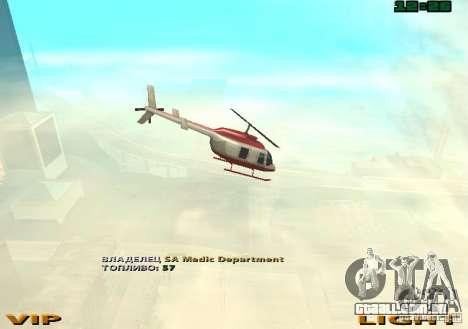 New Maverick para GTA San Andreas vista traseira