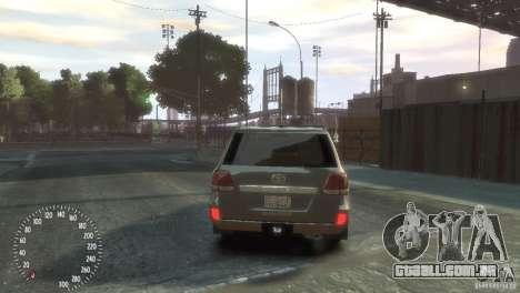 Toyota Land Cruiser 200 2010 para GTA 4 traseira esquerda vista