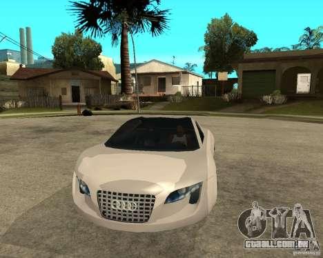 AUDI RSQ concept 2035 para GTA San Andreas vista traseira