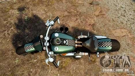 Harley Davidson Fat Boy Lo Racing Bobber para GTA 4 vista direita