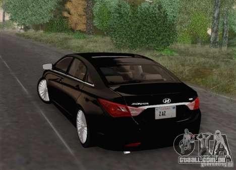 Hyundai Sonata 2012 para GTA San Andreas vista superior