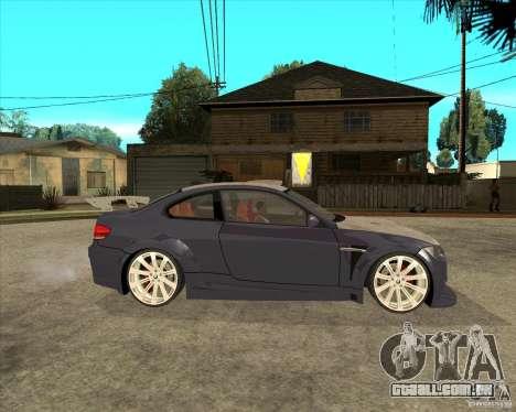 BMW M3 E92 TUNED para GTA San Andreas vista direita