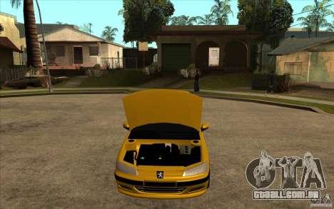 Peugeot 406 Taxi para GTA San Andreas vista traseira