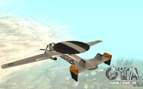 E-C2 Hawkeye para GTA San Andreas traseira esquerda vista