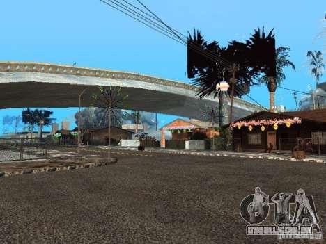 Véspera de ano novo no Grove Street para GTA San Andreas terceira tela