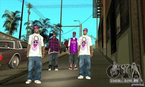 Substituir todos os skins Ballas East Side para GTA San Andreas