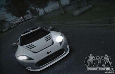 Spyker C8 Aileron para GTA San Andreas vista traseira