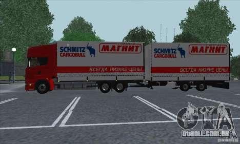 Trailer de Scania R620 para GTA San Andreas vista traseira