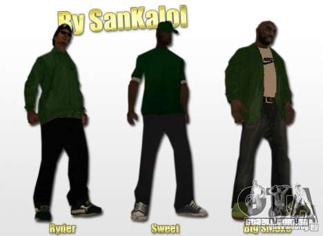 New Sweet, Smoke and Ryder v1.0 para GTA San Andreas