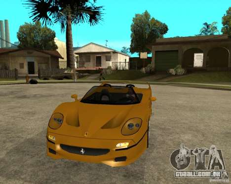 Ferrari F50 para GTA San Andreas vista traseira