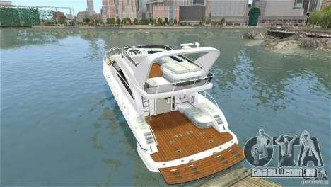 Luxury Yacht para GTA 4 vista de volta