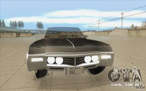 Buick Riviera GS 1969 para GTA San Andreas vista superior