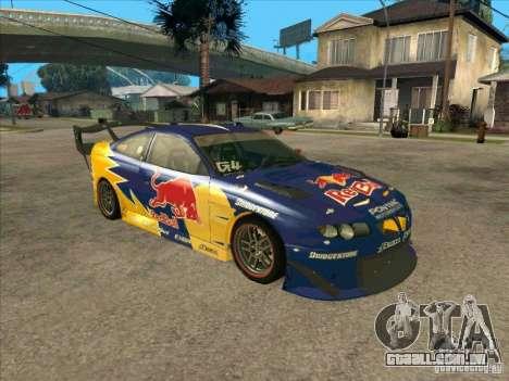 Pontiac GTO Red Bull para GTA San Andreas esquerda vista