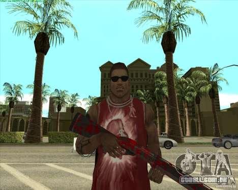 Blood Weapons Pack para GTA San Andreas twelth tela