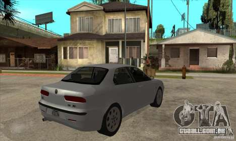 Alfa Romeo 156 2,5V6 2000 para GTA San Andreas vista direita