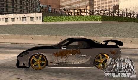 Mazda RX-7 MyGame Drift Team para GTA San Andreas esquerda vista