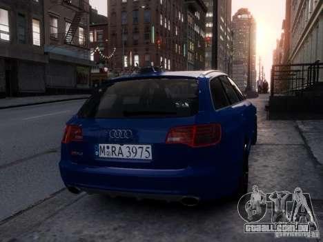 Audi RS6 Avant para GTA 4 vista de volta