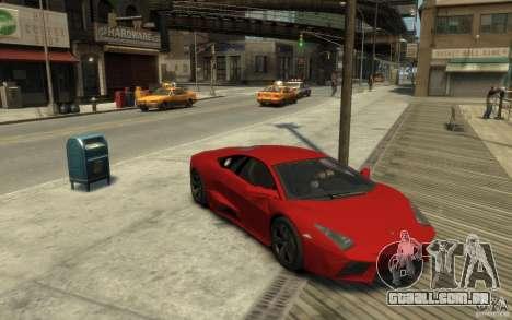 Lamborghini Reventon Coupe para GTA 4 vista de volta