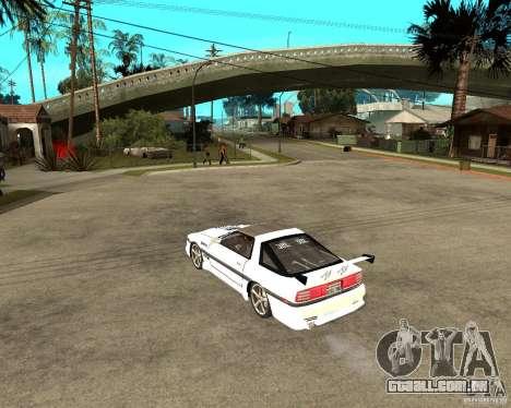 Toyota Supra MK3 Tuning para GTA San Andreas traseira esquerda vista