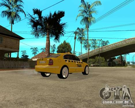 Skoda Superb TAXI cab para GTA San Andreas vista direita