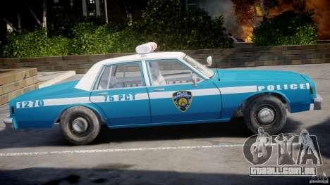 Chevrolet Impala Police 1983 v2.0 para GTA 4 traseira esquerda vista