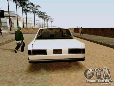 Admiral Limo para GTA San Andreas vista traseira