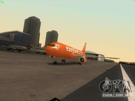 Airbus A320-214 EasyJet 200th Plane para GTA San Andreas vista traseira