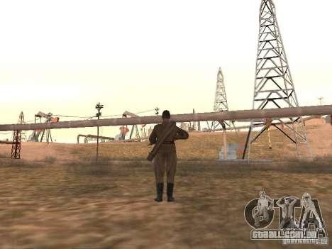 Um soldado soviético para GTA San Andreas terceira tela