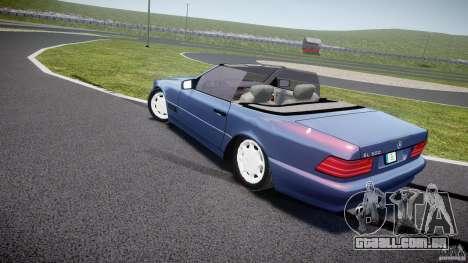 Mercedes-Benz SL500 para GTA 4 traseira esquerda vista