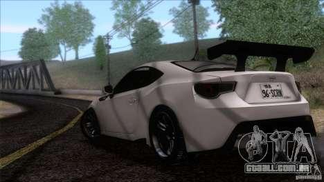 Scion FR-S 2013 para GTA San Andreas esquerda vista